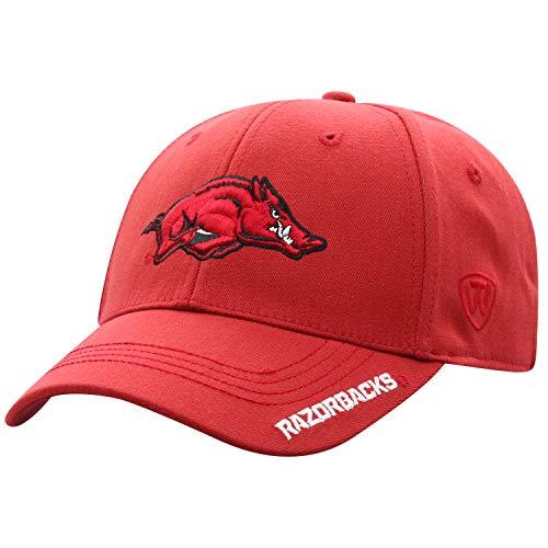 Top of the World NCAA-Premium Collection-1-Fit-Memory Fit-Hat Cap-Arkansas Razorbacks Arkansas Razorbacks Ncaa Basketball
