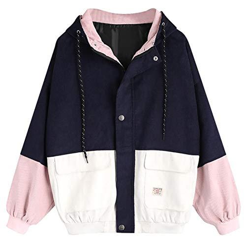 SHANGYI Jas Dames Jas Winter Warm Lange mouwen Mantel Patching Pocket Zip Jacket jas jas