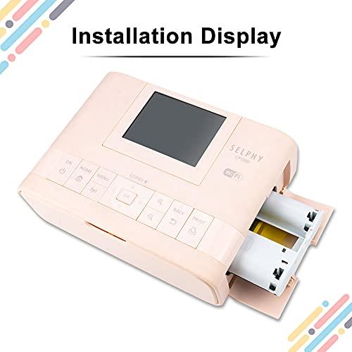 UniPlus Compatible con Canon Selphy CP1300 CP1200 CP1000 CP910 impresoras y Canon KP-108IN cartucho de tinta Compatible impresoras Canon Selphy (2 Cartuchos de Colores, sin papel)
