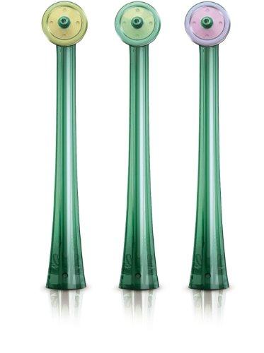 Philips Sonicare AirFloss Ersatzdüsen HX8013/07 für schwer erreichbare Stellen & verbesserte Zahnzwischenraum Reinigung - passen auf alle AirFloss Mundduschen – Original, 3er Set
