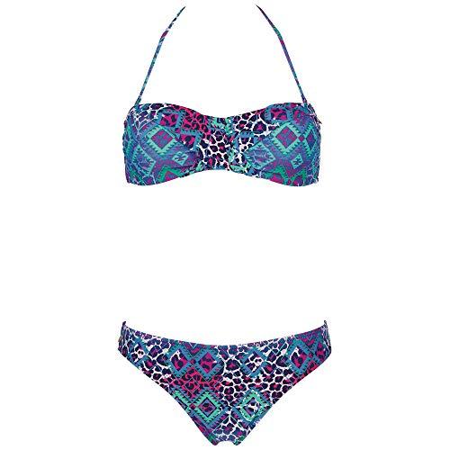 Chiemsee Damen Bustier Bikini, Aztek Blue gre, XL