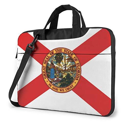 Estuche para computadora portátil, Flag of Florida Briefcase Messenger Notebook Bag 15.6 Pulgadas