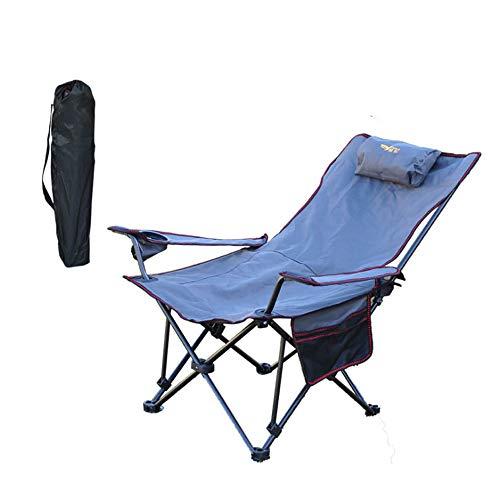 fang zhou Silla Plegable para Acampar Asiento reclinable liviano portátil Moda al Aire Libre, para mochileros, Pesca, Senderismo, Picnic, Viajes, Playa y césped + Bolsa de Almacenamiento