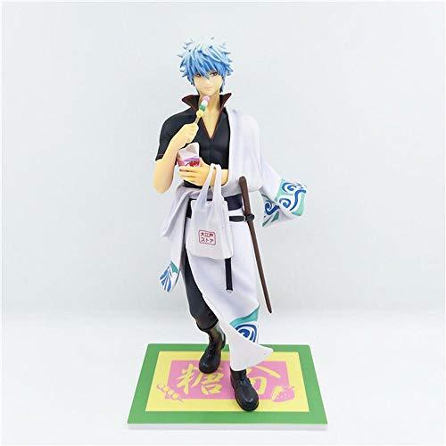 Action Figure Gintama Essen Stehen Haltung Sakata Gintoki Weiß Yaksha Anime-Charakter Anime-Charakter Modell Statue Ornament - Weihnachten 23cm