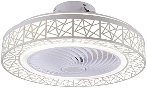 Waqihreu Ventilador de Techo con Luces y Control Remoto Simplicidad contemporánea Ventilador LED sin aspas Lámpara de Techo Regulable 46W para Sala de Estar Dormitorio Habitación Infantil