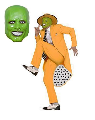 MJPARTY - Disfraz de la mscara para hombre de Jim Carrey de los aos 90