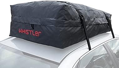 Whistler Car Roof Bag Bundle - 100% Waterproof oof Top Cargo Bag NO Rack Needed + Non Slip Roof Mat, for Any Car Van or SUV