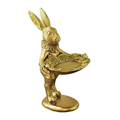 SHYPT Conejito Decorativo de exhibición de la exhibición de la exhibición del Adorno Adorno de Conejo, Collar Pendiente de Almacenamiento Soporte de Almacenamiento Bandeja para niñas Regalo de Mujer