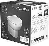 Duravit DuraStyle Basic Stand-WC Duravit Rimless Set 418409, Salida Horizontal, para Suministro de Agua Variable - 41840900A1