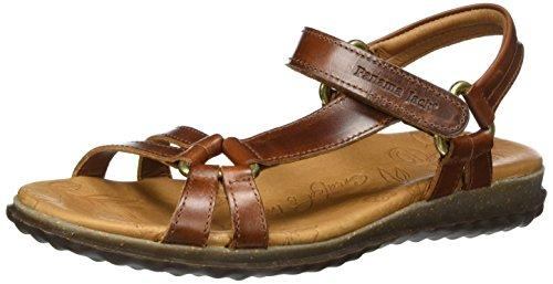 Panama Jack Damen Caribel Clay Offene Sandalen mit Keilabsatz, Braun (Bark), 37 EU