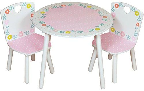 Country Cottage Kidsaw Tisch und Stühle, Holz, mehrfarbig, 50 x 50 x 45 cm