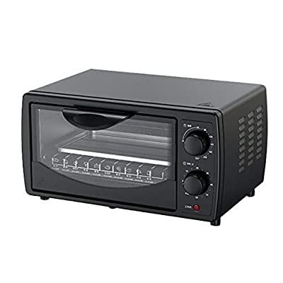 J 10l Household Oven, Multi-Function Oven, High Power, Rotating Control, Easy Temperature Control, Used for Baking Bread, Egg Tarts, Pizza, Black