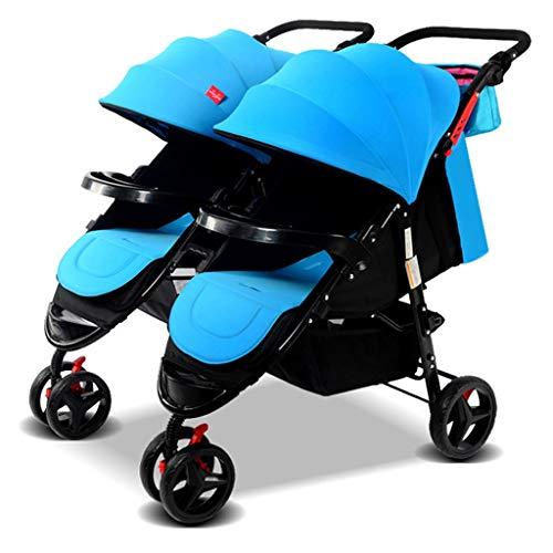 XYSQ Double Pushchair met dubbele stoel, aparte aanpassing en afneembare, dubbele kinderwagen kan worden gerangschikt en opgevouwen om een tweede kinderwagen te huisvesten