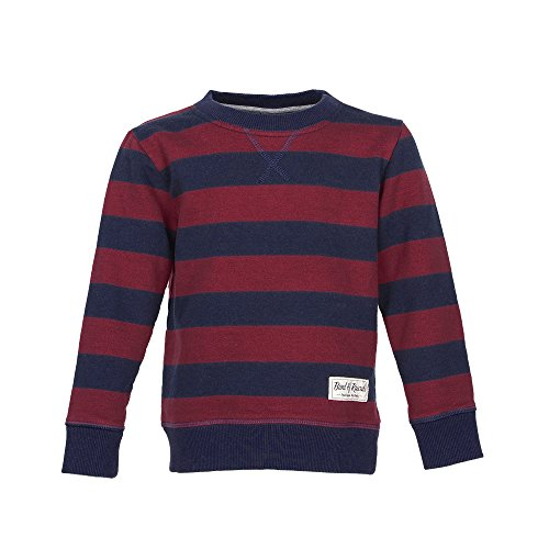 Band of Rascals Kinder Sweatshirt Langarm Striped Bio-Baumwolle (98/104, Navy-red)