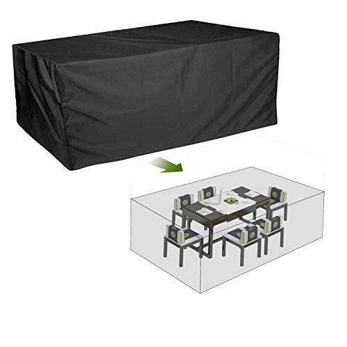 NINGWXQ Garden Furniture Cover Rechthoekige Protective Cover Waterdicht Oxford Doek koord Ontwerp Buiten Terras, klantgericht, Black (Color : Black, Size : 100X100X140cm)