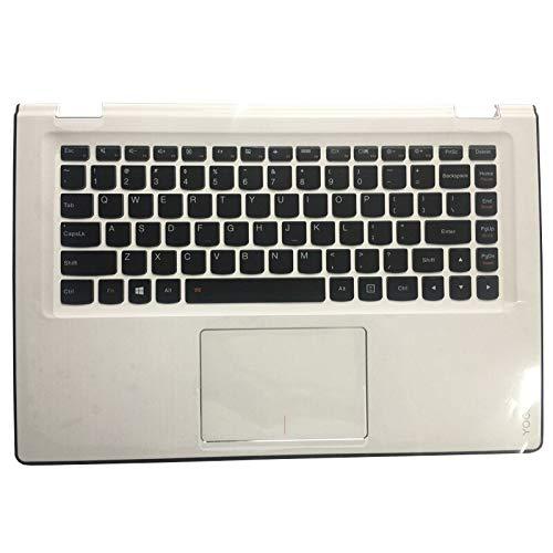 wangch Teclado de Ordenador portátil 100% Nuevo de EE. UU. para Lenovo Yoga 3 14 Yoga 700-14ISK Yoga 3-1470 con Panel táctil Blanco AP0YC000210 5CB0K61165