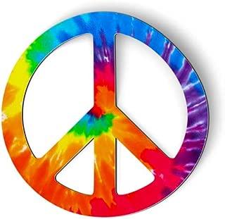 AK Wall Art Peace Sign Tie Dye - Magnet - Car Fridge Locker - Select Size