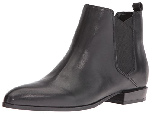 Nine West Women's Doloris Leather Boot, Black, 7 M US