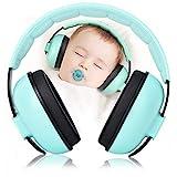 Cuffie antirumore, con riduzione del rumore, protezione dell'udito, 25 dB, NRR, per bambini, adatte per studiare il sonno, verde