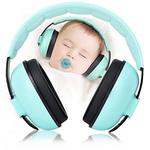 Orejeras con cancelación de ruido, reducción de ruido, protección auditiva de 25 dB, cancelación de sonido, para niños y bebés, apto para dormir y estudiar