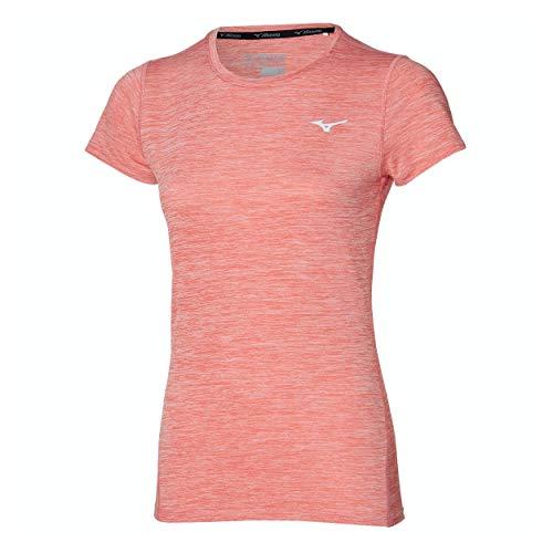 Mizuno Impulse Core Camiseta Interior, Tea Rose, L para Mujer