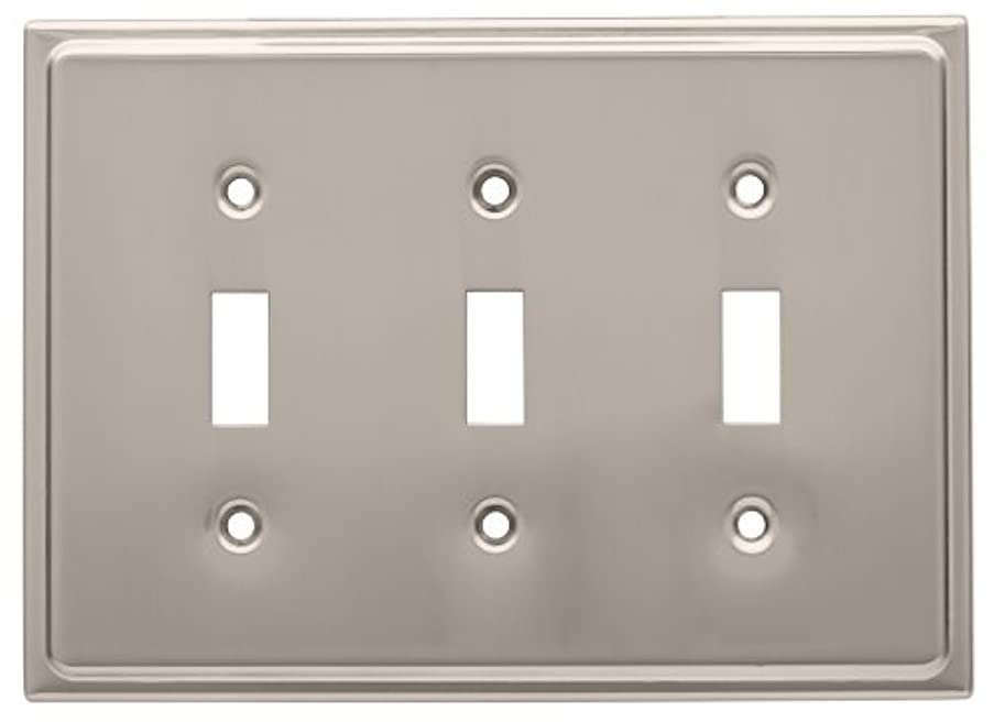 Franklin Brass 126366 Country Fair Triple Toggle Switch Wall Plate, Satin Nickel