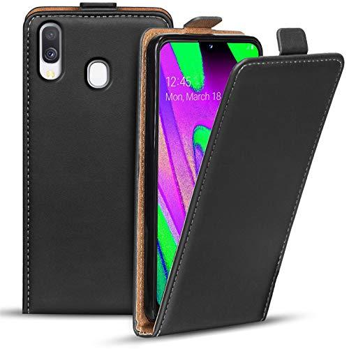 Preisvergleich Produktbild Conie BF52367 Basic Flip Kompatibel mit Samsung Galaxy A20e,  PU Leder Hülle Cover Klapphülle für Galaxy A20e Tasche Schwarz