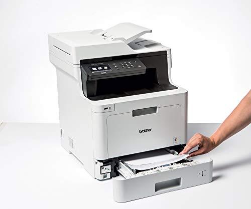 Brother DCP-L8410CDW -Impresora multifunción láser Color Profesional 3 en 1 (impresión, Copia y escaneado, Alta Velocidad, WiFi, impresión a Doble Cara, LCD), Blanco