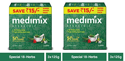 Medimix Ayurvedic Classic 18 Herbs Soap, 125g (Pack Of 5)