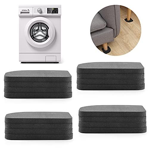 Waschmaschinen-Pad,16 Stück Waschmaschine Unterlage,Antirutschmatte für Waschmaschinen,Anti-Vibrationsmatte Gummi,Anti-Rutsch-Matten für Waschmaschine,Antivibrationsmatte,Anti Vibration Pads