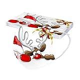 dnw2uo9 10 stück Erwachsene Mundschutz Weihnachten Einweg 3 Lagig Mund Und Nasenschutz Weihnachtsmotiv Atmungsaktive Staubschutz Bandana Multifunktional Einmal Mundschutz Halstuch (N)