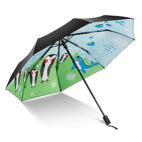 Sombrilla dibujos animados patrón paraguas sol protector vínculo uv protección joven corazón plegable sombrilla soleado lluvia dual-propósito paraguas masculino y femenino estudiantes resistente al vi