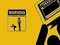 ブリキのサイン警告あなたは監視されていますヴィンテージ鉄の絵の金属板ノベルティ装飾クラブカフェバー