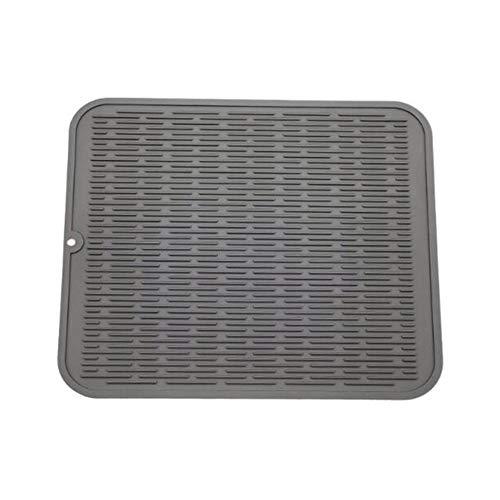 Sunnyushine - Esterilla de escurrir de Silicona (40 x 50 cm, Gran Bandeja escurridora, Antideslizante, Resistente al Calor)
