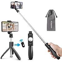 ELEGIANT Palo Selfie Trípode, Selfie Stick Móvil Bluetooth para Viaje Autofoto Extensible de Control Remoto Monopié 3 en 1 Obturador Deportivo Rotación 360 Grados para iPhone XS Samsung Huawei Xiaomi