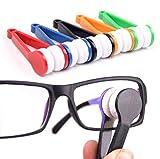 XUMIN 5 Stücke Farbe Zufällig Mehrzweck Mikrofaser Tragbare Brillenreiniger Brillengläser Reinigungsbürsten Scheibenwischer für Brillenglasreinigung