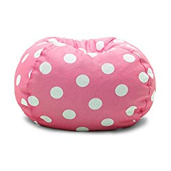 Regular Bean Bag Chairs Like This Pink Polka Dot Chair Also Work Great I Really The Lime And Gray Ones