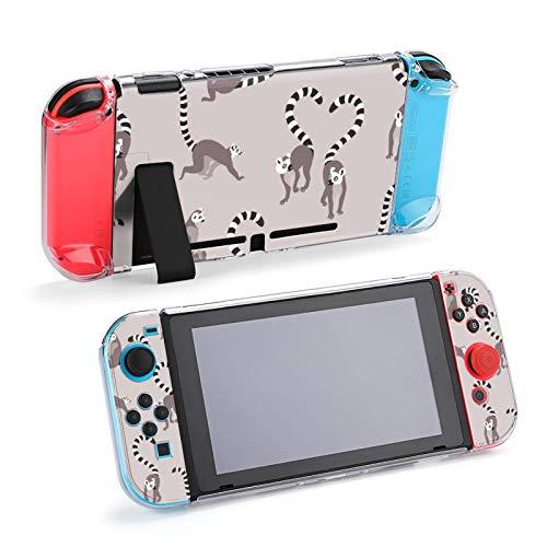 Gray Ring Tailed Lemur Case Dockable Schutzhülle für Nintendo Switch und Joy-Con Controller