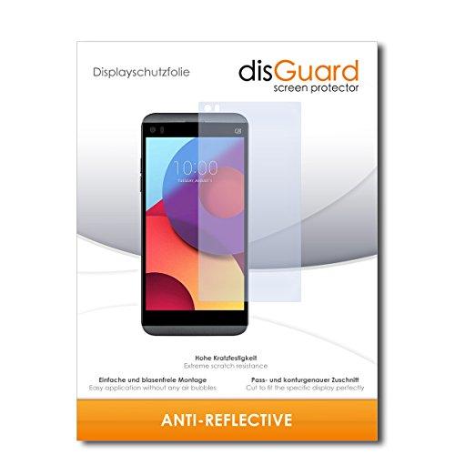 disGuard Schutzfolie für LG Q8 [2 Stück] Entspiegelnde Bildschirmschutzfolie, MATT, Glasfolie, Panzerglas-Folie, Bildschirmschutz, Hoher Festigkeitgrad, Glasschutz, Anti-Reflex