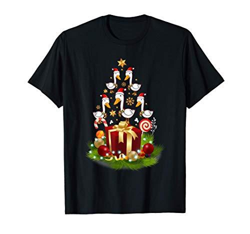 Santa Duck Christmas Tree Funny Xmas Decor Gift for Duck T-Shirt
