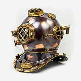 "Brass Antique Helmet Deep Sea US Navy Mark V Diving Scuba Divers 18"""