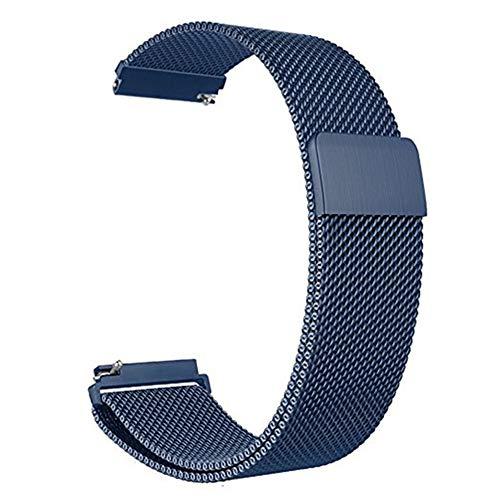 BBLLCorrea de Reloj 22mm Correa de Relojpara Samsung Gear S3 Galaxy Watch 46mm 42mm Active 2 Band 20mm Banda de Acero Inoxidable para Gear S2 Amazfit 22mm o S3 Azul
