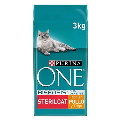 PURINA ONE Bifensis Pienso para Gatos Esterilizados Pollo y Trigo 4 x 3 Kg