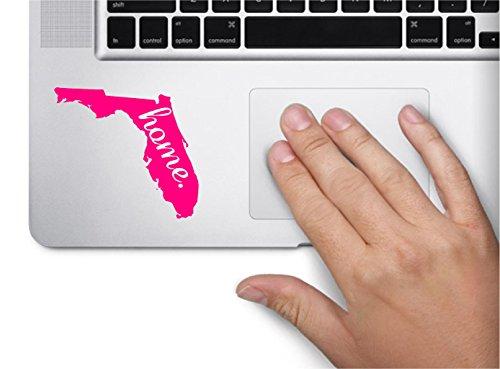 ExpressDecor #2 Home Florida Keypad Computer Laptop Symbol Decal Family Love Car Truck Sticker Window (Pink)