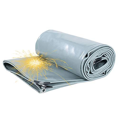 Lona Impermeable Resistente A La Lluvia De Color Plateado Retardante De Llama Súper Gruesa, Lona Impermeable A Prueba De Polvo Con Aislamiento Térmico Para Exteriores, 650 G /㎡(Size:3 * 3m)