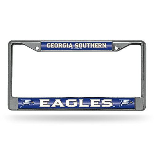 Rico NCAA Georgia Southern Eagles Bling License Plate Frame, Chrome, 12 x 6-Inch