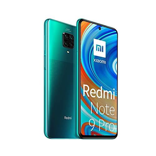 """Xiaomi Redmi Note 9 Pro Smartphone - 6.67"""" DotDisplay 6GB 128GB 64MP AI Quad Camera 5020mAh (typ)* NFC verde [Versione globale]"""