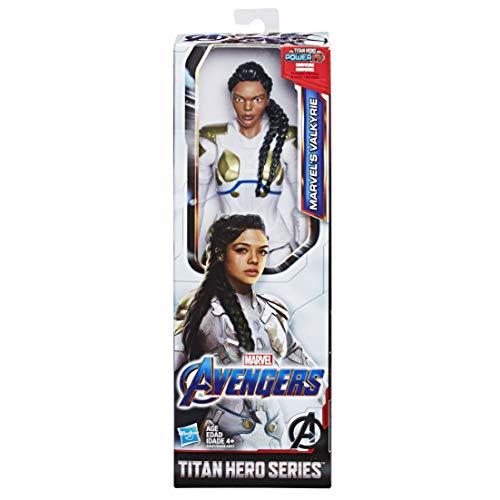 Hasbro Marvel Avengers - Endgame Valkyrie Titan Hero Compatible con Power FX, no Incluido, Figura de acción de 30 cm.