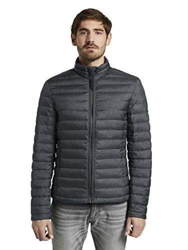 TOM TAILOR Herren Jacken & Jackets Leichte Jacke mit Stehkragen Grey Melange Design,M