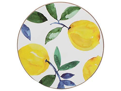 creative tops C000277Premium stampato rotonda con retro in sughero con scritta limoni